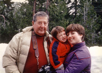 My first snow experience, with my mother and maternal grandfather, Eugene Berman. Circa 1983.