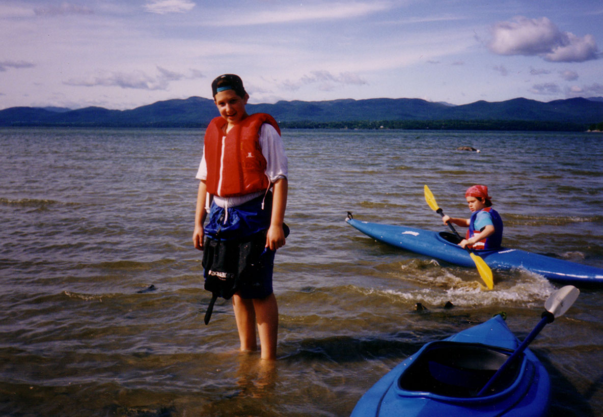 Thaddeus Ressler and I, on a camping and kayaking trip to Lake Champlain, Vermont. August 1992.