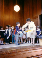 I graduated from pre-school, and this proves it. Note the girl with a hand up her dress behind me.