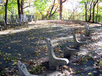 Inwood Hill Park: this used to be some sort of viewing pavillion. Spooky.