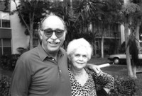 Paternal grandparents Al & Pearl Manning in front of their Lauderhill, Florida condo. Circa 1995.