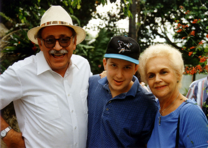 With my grandparents, Al & Pearl Manning, in Florida. 1993.