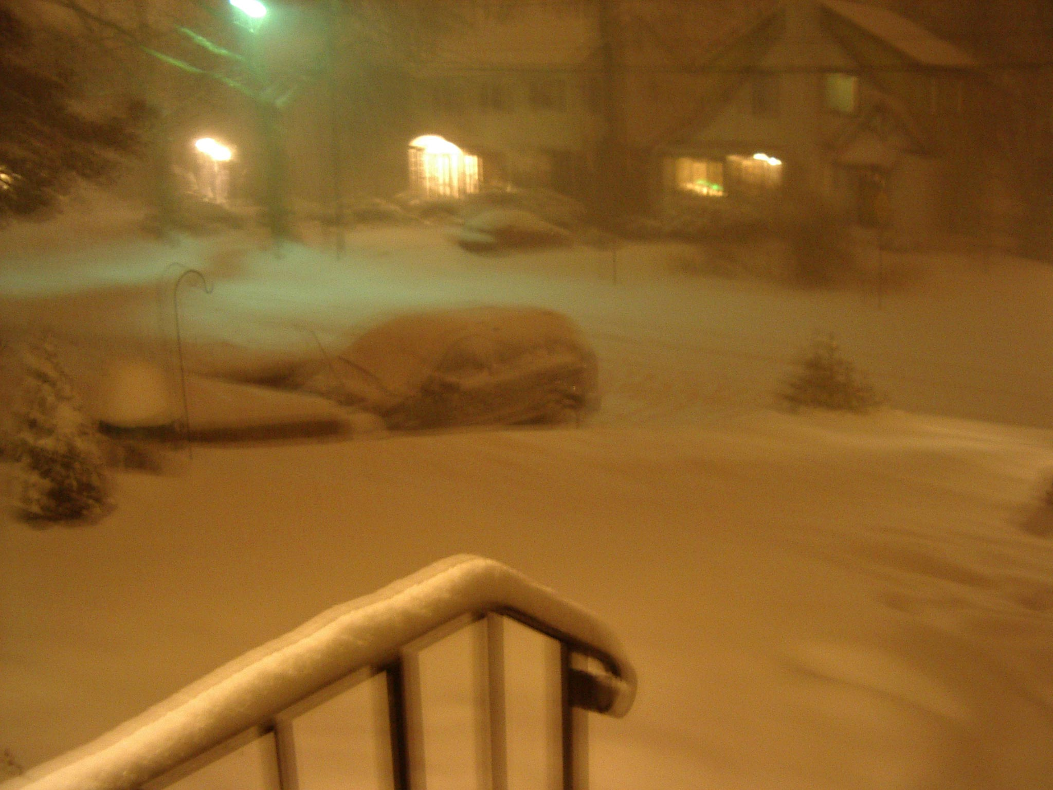 A week before China, a parting snowstorm. West Orange, NJ, January 23, 2005.