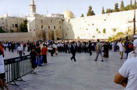 The western wall of the Second Temple/Wailing Wall/Kotel. A holiday, so it was busy.