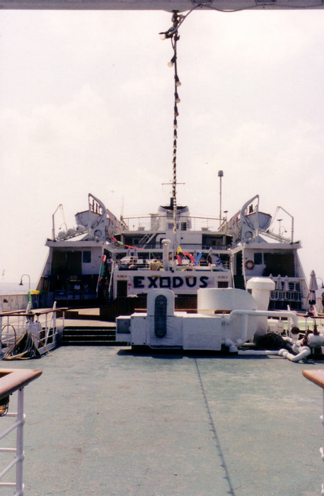"This '70s-era cruise ship was renamed ""Exodus"" for our trip across the Mediterranean to Israel."