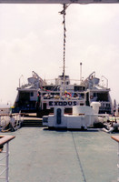 This '70s-era cruise ship was renamed &quot;Exodus&quot; for our trip across the Mediterranean to Israel.