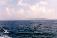 My first glimpse of Israeli shores, Haifa.