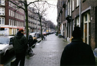 David Feinberg and John Todd, walking the streets of Amsterdam.