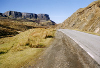 I was surprised that Scotland looks like this. One-lane highway through the Highlands.