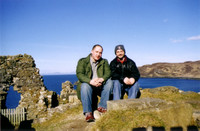 With Dave Feinberg at the ruins of Duntulm Castle, Isle of Skye.