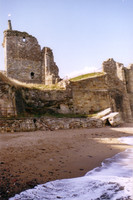 The ruins of the castle at St. Andrews, built first in the 12th century and destroyed in the 1650s.