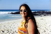 My dad's wife, Tania, on  the beach.