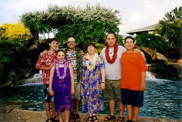 The family in Hawai'i.