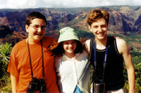 Ethan, Lauren, and Aaron at Waimea Canyon.