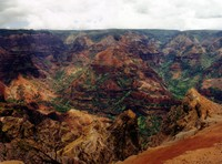 A wider view of Waimea Canyon, stitched together from two side-by-side photos I took.