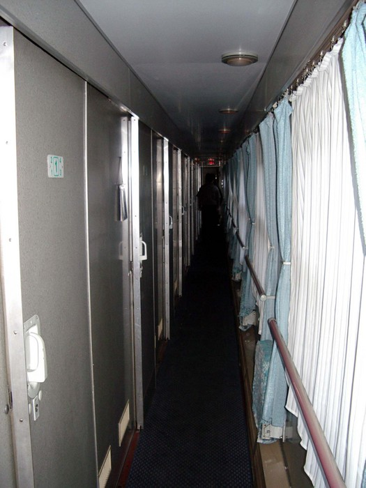 The hallway in my soft-sleeper railway car.