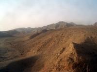 Arid nothingness in Gansu Province.