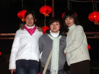 Circle English staff members (from L to R): Catherine, Rose, and Xiao Yang. Catherine and Rose have since left to go the college in Urumqi.