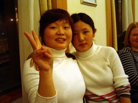 Rose and Catherine, just before they left for Urumqi.