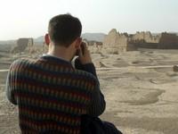 David snaps a shot of Jiaohe's large Buddhist temple.