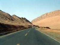 The road to Bezeklik goes through the Flaming Mountains.