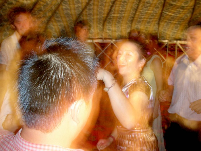Yurt party! William, David, and Zoe threw a going-away party for themselves in a Mongol yurt with karaoke. Damn good fun. (That's our Uyghur friend, Kambiyer, dancing in the middle.)
