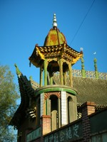 The local mosque in Hongqi. Most of the people in and around Altai are Kazakhs who practice Islam.