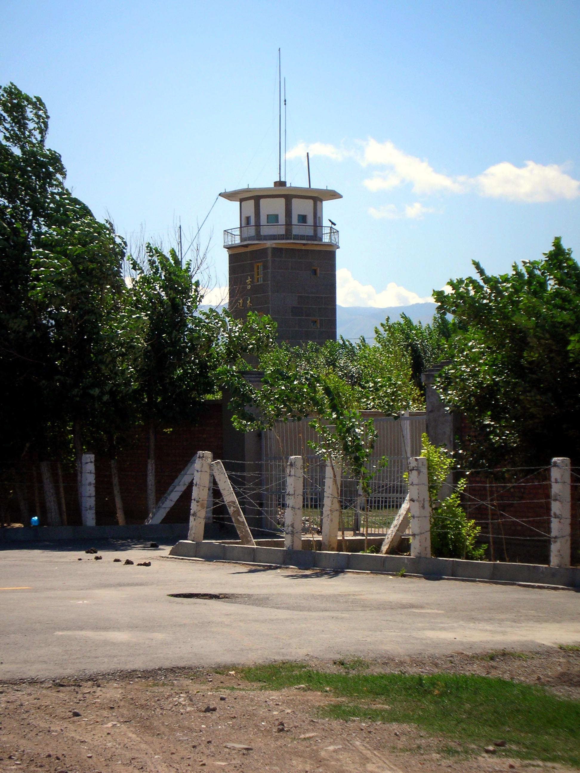 A Chinese PLA observation tower overlooking the Kazakh border.