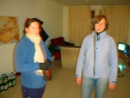 Kerryn and Camilla in my blurry livingroom.