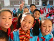 Some of my students from Hua Shan Middle School in Korla, Xinjiang.