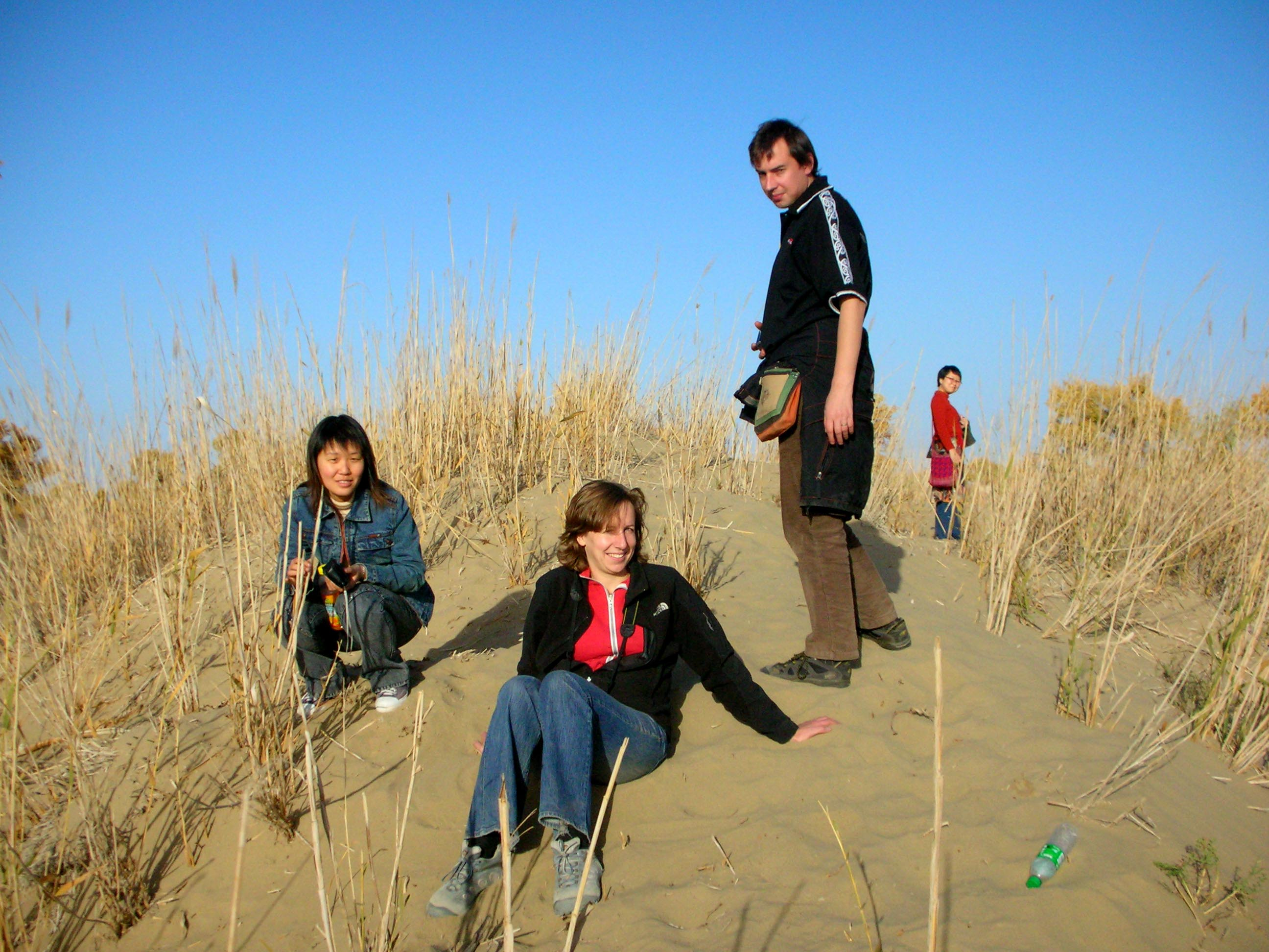 The crew of my expedition... (L to R) Wang Shan, Camilla, Simon, and Tomoyo.
