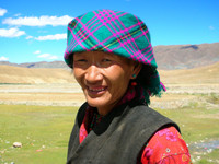 A friendly Tibetan woman.