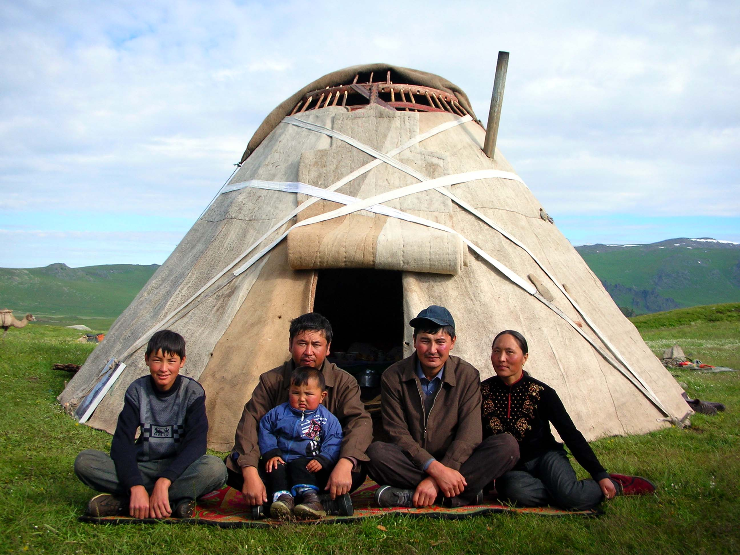 Aletai China  city images : Kazakh family portrait. This is the family we stayed with in the Altai ...