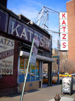 If you only eat one sandwich in New York City, make it a Katz's sandwich. (It's at the corner of Houston and Ludlow.)