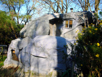 In general, I find that people are amused by houses shaped like rocks. I took this photo where my dad lives in Lafayette, California.