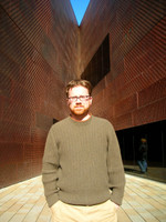 Mike McCurdy equals coppery red equals the de Young museum. Now that's a color scheme.