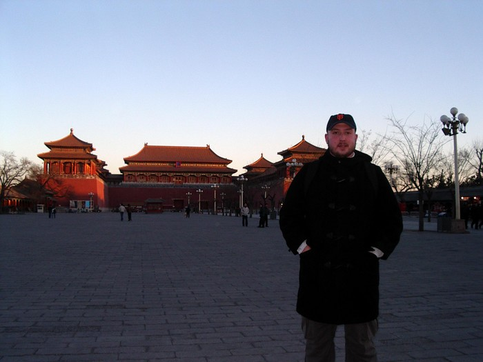 Inside the second Forbidden City gate.