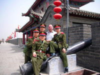 I met a group of young soldiers near the South Gate of Xian's old city wall. Photo-op!
