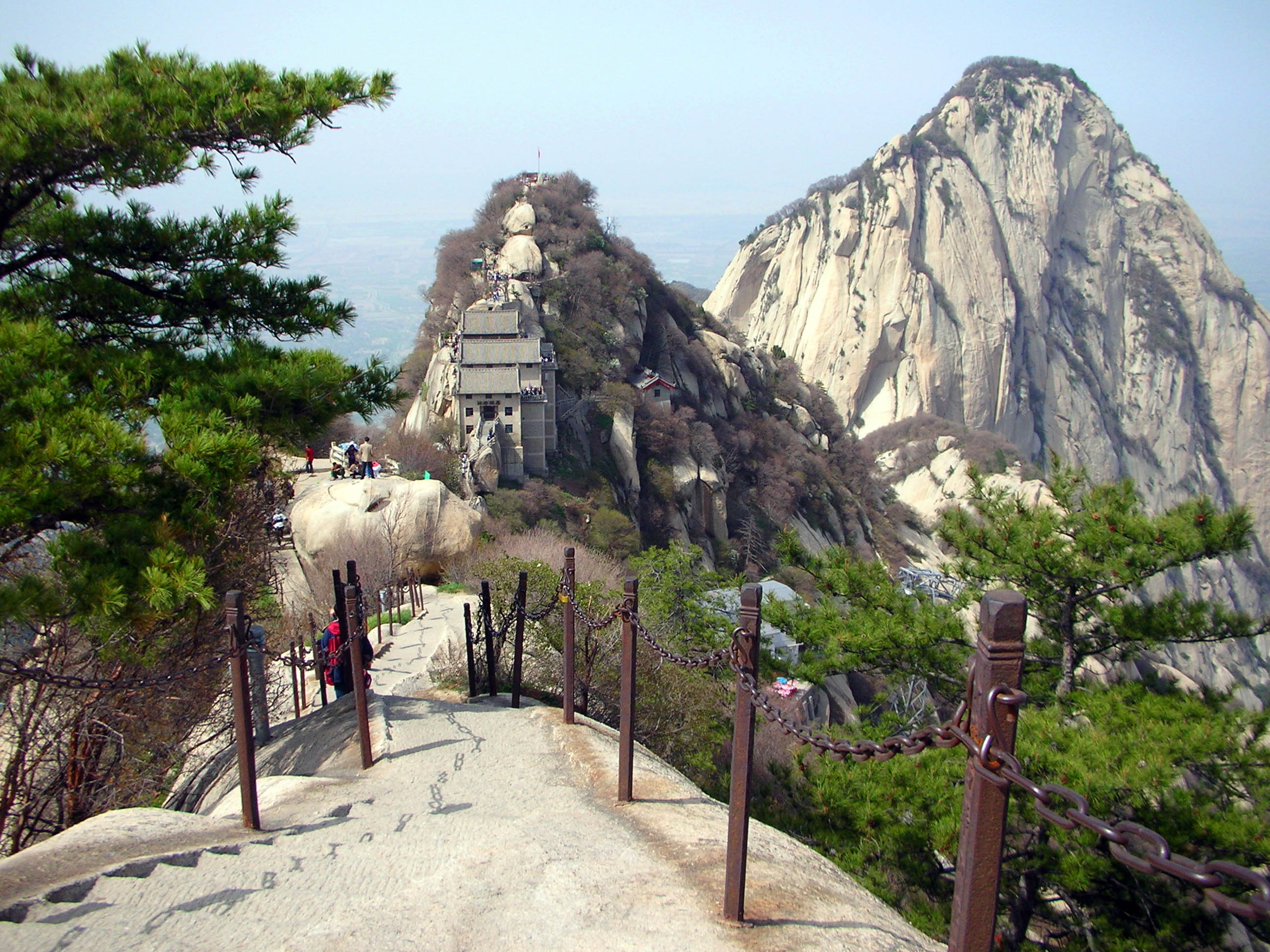 Visiting Shaanxi's Hua Shan (Five Petals Mountain) gave me an idea of where the inspiration for traditional Chinese painting originates.