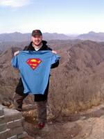 When I got to the top, a Polish couple was taking pictures in their Superman t-shirts. They offered to take a picture of me.