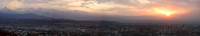 A sunset panorama of Almaty, Kazakhstan. We rode the gondola up to Koktyube (Green Peak) to snap this one.