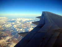 The flight from Urumqi to Almaty was spectacular, passing over beautiful peaks in the Tian Shan Mountains.