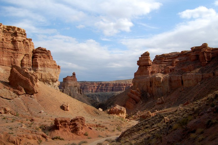 A look down Charyn Canyon, about 3 hours outside of Almaty.