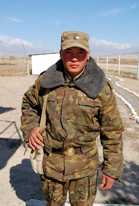 It's kinda funny... one soldier made me delete a photo I took at the border post, and then immediately afterwards this Kazakh soldier forced me take a picture!