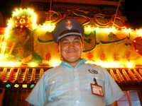There's a Uyghur disco next door to our apartment. Our security guard buddy who sits out front knows three English phrases: girlfriend, whore, and good night!