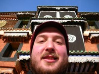 Self-portrait at the Labrang Monastery.