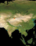 Satellite Map of Asia