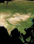 Satellite Map of Asia