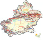 Map of  Xinjiang Uygur Autonomous Region