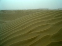 Ommmmmm! The endless sands of the Taklamakan Desert.